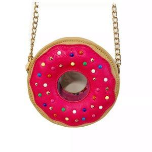 Betsey Johnson sprinkled donut handbag